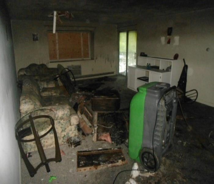 Living Room Electrical Fire Before