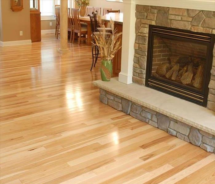 beautiful hard floors and fireplace