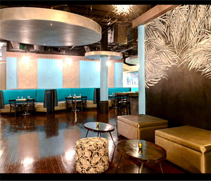 interior of restaurant and lounge tables